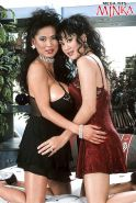 Asian lesbians Minka and Asia Carrera fondle nice melons while humping