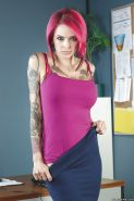 Slutty tattooed babe Anna Bell Peaks showing off her new lingerie