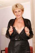 Blonde granny with tiny tits stripping and exposing her fuckable body #51002043