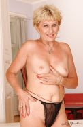Blonde granny with tiny tits stripping and exposing her fuckable body #51002050