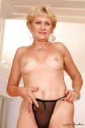 Blonde granny with tiny tits stripping and exposing her fuckable body #51002054