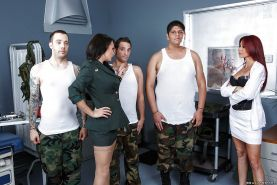 Alektra Blue and Monique Alexander hav sex with some army guys