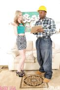 Petite blonde teen Tysen Rich wrapping soft young girl lips around BBC