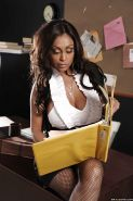 Curvy indian MILF Priya Anjali Rai stripping in the office