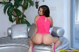 Kelsi Monroe spreading big ass and showing fuckable vagina