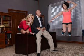 Milfs Chase Ryder and Simone Sonay meet a big dick in the office