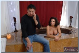 Teri Weigel gets fucked and takes a cumshot on her gorgeous big tits
