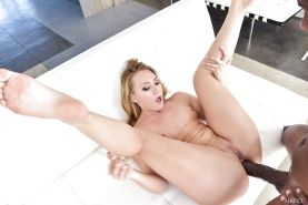 Interracial pornstar AJ Applegate taking brutal ass fucking from BBC
