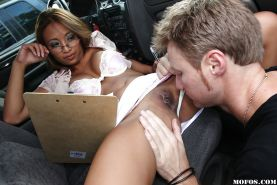 Asian babe with big tits Kina Kai having hardcore sex in the car