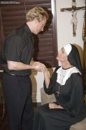 Amateur nun Kelly Madison has her milf cunt fucked in a stockings