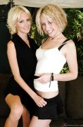 Clothed blonde lesbos Proxy Paige and Torrey Pines feel each other up