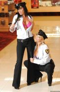 Shyla Stylez and Lezley Zen have groupsex and pussy lick in uniforms