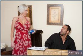 MILF lady with big tits Kasey Grant in reality hardcore porn.
