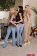 Frolic latina girl gets involved into lesbian sex with her blonde friends