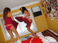 Lesbian teen Ivy Winters and Melanie Rios have fight and then make love