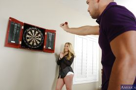 Skinny blondie AJ Applegate has her ass licked out by her man