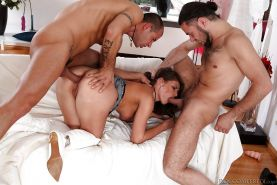 Slutty MILF Betty Saint gets her asshole drilled by two horny guys