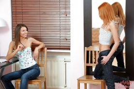 Nasty toying and fisting pics of two horny lesbian teens