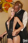 Jessie Rogers gets her love holes drilled hardcore by a big black cock