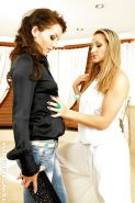 Gina Killmer & Adel Sunshine have some fully clothed shower fun