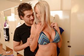 Lusty blonde MILF Emma Starr gives a blowjob and gets fucked hardcore