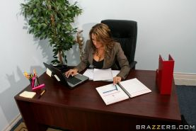 Hot MILF Trina Michaels gets into bitchy groupsex in the office