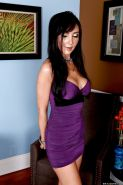 Elegant MILF Diana Prince strips her great boobs and ass from a dress