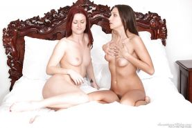 Sensuous lesbians make some passionate humping and pussy licking action