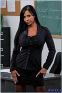 Hot teacher with huge tatas Jewels Jade stripping in the classroom