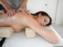 Hot babe with big tits Chanel Preston gets fucked by a masseur