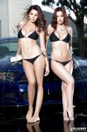 Centerfold lesbian Ali Rose and Elizabeth Marxs please each other
