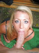 Blonde mature lassie Chelsea Zinn sucks and rides a huge hard dick