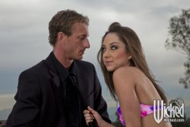Foxy pornstar with hot ass Remy Lacroix gets fucked outdoor
