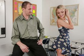 Skinny reality babe with tiny tits Dakota Skye gets fucked in classroom