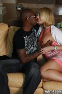 MILF babe with big boobs Mellanie Monroe has hardcore interracial sex