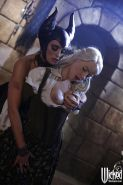 Amazing girls Anikka Albrite and Stormy Daniels doing cosplay