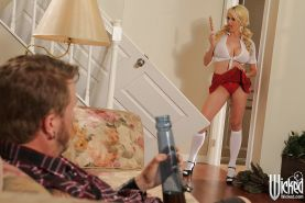 Ass fucking scene featuring blonde milf pornstar Stormy Daniels