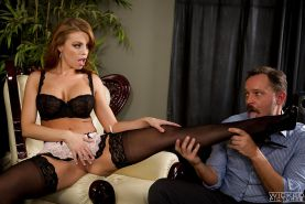 Top pornstar Britney Amber having sex in naughty French maid lingerie