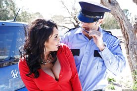 Bad milf Dayton Rains gives a blowjob and gets fucked by police