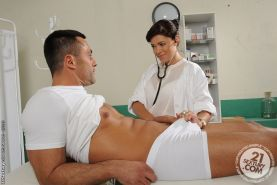 European nurse Ava Dalush has her pussy nailed in a uniform
