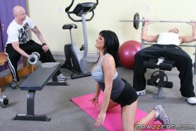 Sports babe Tory Lane is fucking her instructor in the gym in reality