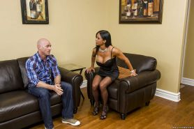 Hot MILF Jewels Jade enjoys a huge boner filling her mouth and hungry cunt
