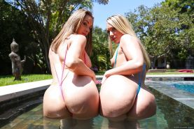 PAWG Chanel Preston, Chris Strokes and AJ Applegate free butts from bikinis