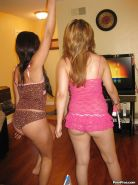 18 year olf best friends Rosalie and Kim experiment with lesbian sex