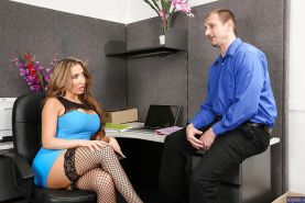 Reality undressing scene with a big tits office lady Richelle Ryan