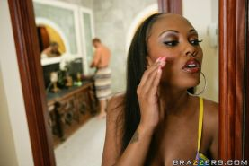 Hot ebony wife with big tits Lacey DuValle gets fucked with a boner