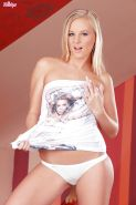Barbie White taking off her underwear and toying her love holes