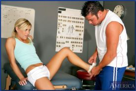 Sport babe with small tits Mckenzee Miles takes hard anal fucking