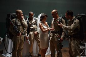 New army bride Veronica Avluv taking interracial gangbang on wedding night