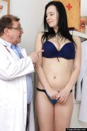 Big tits brunette babe Hanna is being checked in close up by her doctor